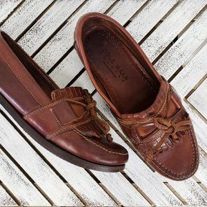 Cole Haan Country Brown Leather Hand-sewn Loafers